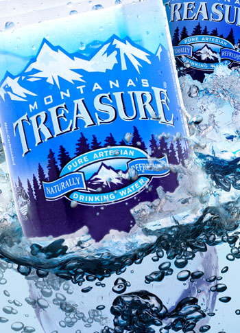 Montana's Treasure Water Bottle Design